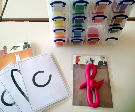 Aider les élèves à mémoriser le tracé des lettres : Lettres à modeler