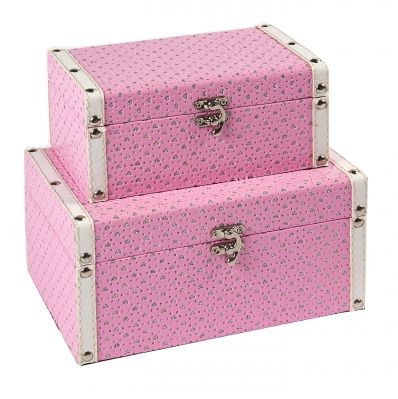 Wholesale Box Company This pink storage boxes are hot wholesale on our official website, set of 2 sizes, give you more storage space for accessories and trinkets Kingdeful Arts & Crafts Co.,Ltd.
