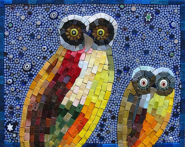 Good activity for older kids. You can buy foam art mosaic pieces at Michael's.