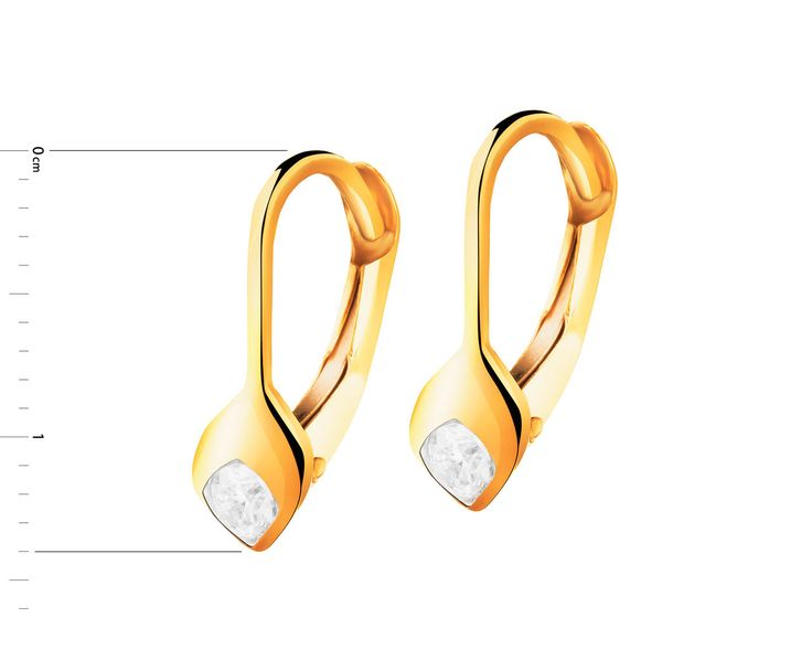 Złote kolczyki - wzór AP125-4674 / Apart
