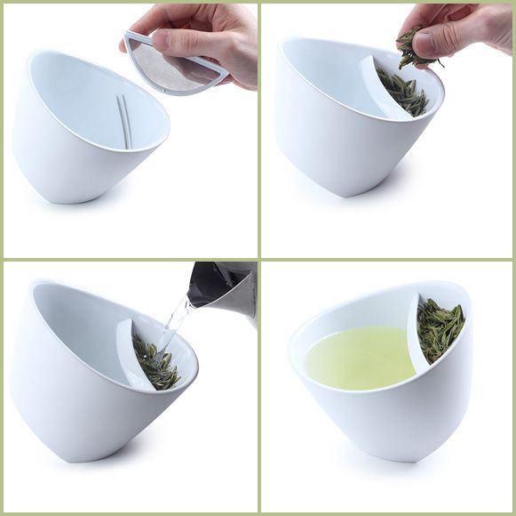 Clever Teacup Design Means One Less Thing To Clean : TreeHugger