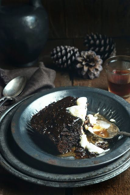 Dark Chocolate, Fig & Rum Self Saucing Pudding