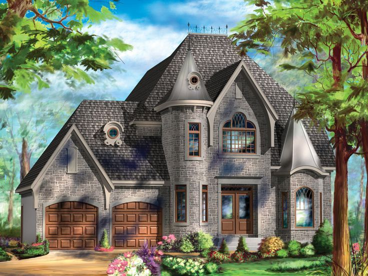 072h 0240 european house plan looks like a castle for European homes
