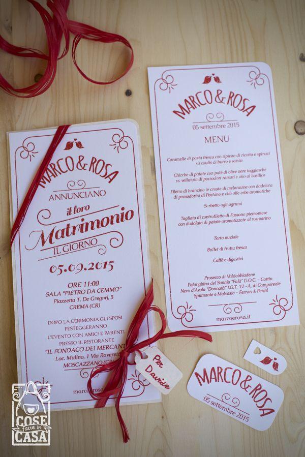 Partecipazioni di matrimonio handmade. http://cosefatteincasa.it/2016/02/05/partecipazioni-matrimonio-handmade/
