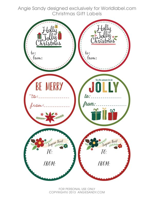 The 25+ best Christmas gift labels template free ideas on - name labels templates free