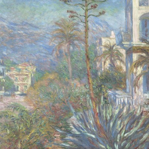 BLANK / UNRULED NOTEBOOK Villas at Bordighera, Claude Monet. Blank journal: 150 blank pages, 8,5 x 8,5 inch (21.59 x 21.59 centimeters) Soft cover.  (Paper notebook, composition book) by Studio Beeker (landscape, garden, blue, fine art, Italy) http://www.amazon.com/dp/1522916555/ref=cm_sw_r_pi_dp_xrCFwb0E4XKYP