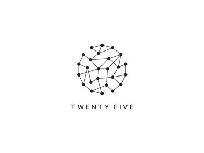 Twenty Five Photography exhibition logo - Minimalistic, contemporary, constellation design