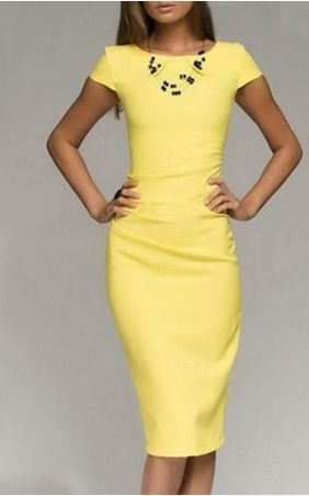 Very Nice Knee length pencil dress for work!Shop Now! Sizes M - XXL.