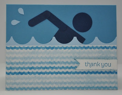 Snippets By Design: A Thank You Card for a Swimming Instructor