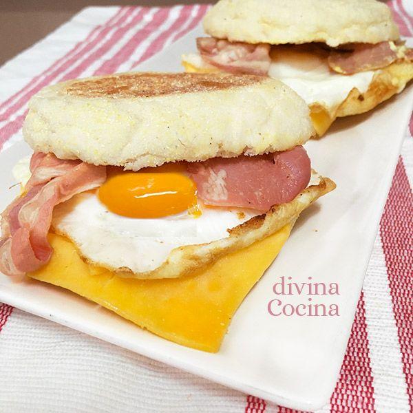 Este muffin de huevo y bacon es una idea perfecta para un desayuno especial o una cena completa.
