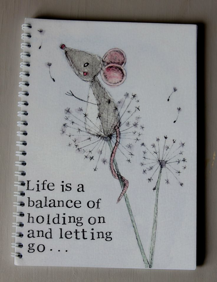 Life is a balance. A5 Notebook by MyPaintedBear on Etsy, £6.50
