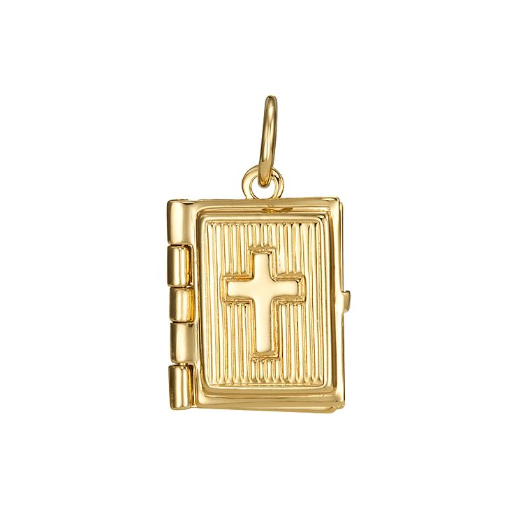 18ct Yellow Gold Layered Holy Bible Locket Pendant | Allure Gold