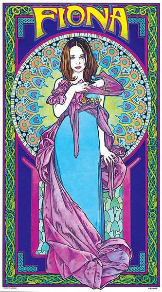 Fiona Apple Art Nouveaustyle Poster by BobMasseStudios on Etsy, $20.00