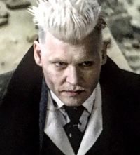 Grindelwald! Fantastic beasts and where to find them.... Johnny Depp