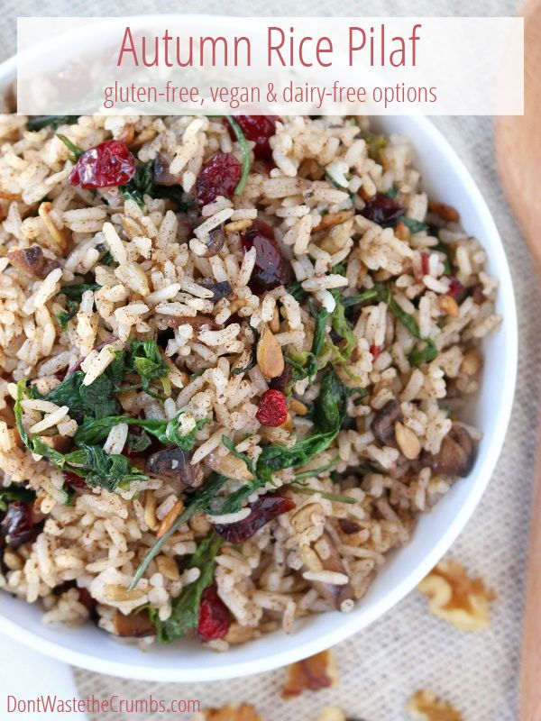 This simple autumn rice pilaf is a delicious gluten-free alternative to traditional stuffing. Simple & ready in 20 minutes, enjoy the flavor of the season!