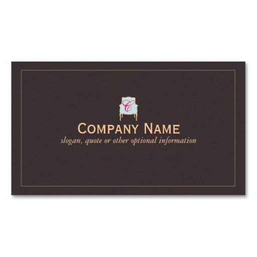 Interior Design Company Name Ideas interior decorator vs interior designer Monogrammed Interior Designer Business Card