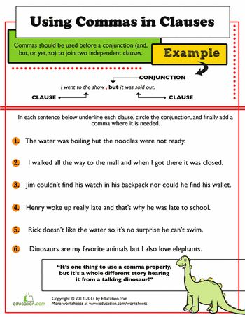 Master the Comma! Comma Worksheets for 3rd Graders ...