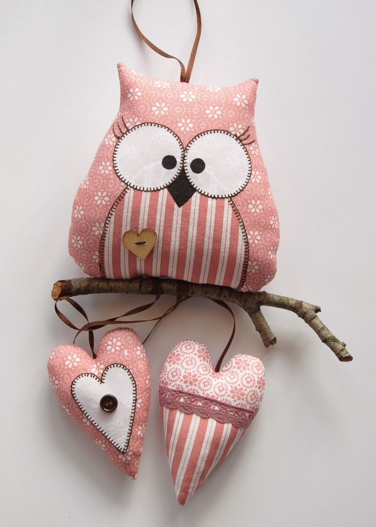 Fabric Owl hanger.: