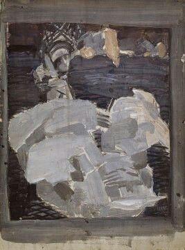 Эскиз к картине Царевна-Лебедь