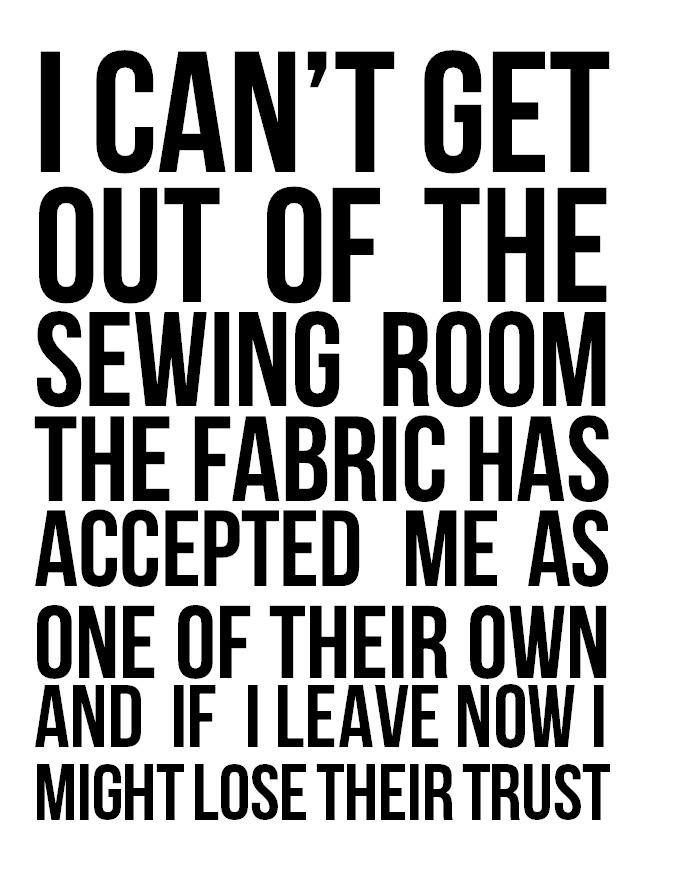 For all you sewing enthusiasts out there!