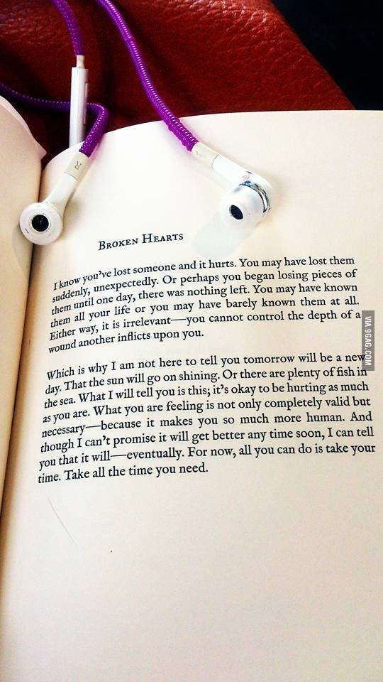 This is beautiful for anyone who's heartbroken.