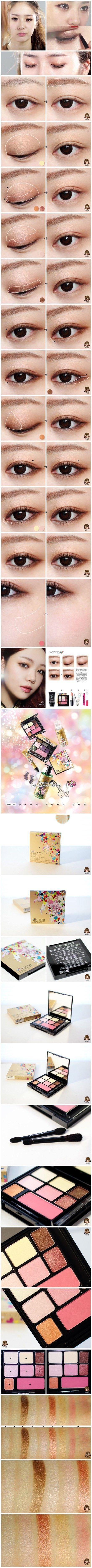 Korean make up, Krystal's eye makeup tutorial #JoinNerium #DebbieKrug #NeriumKorea www.AsianSkincare.Rocks