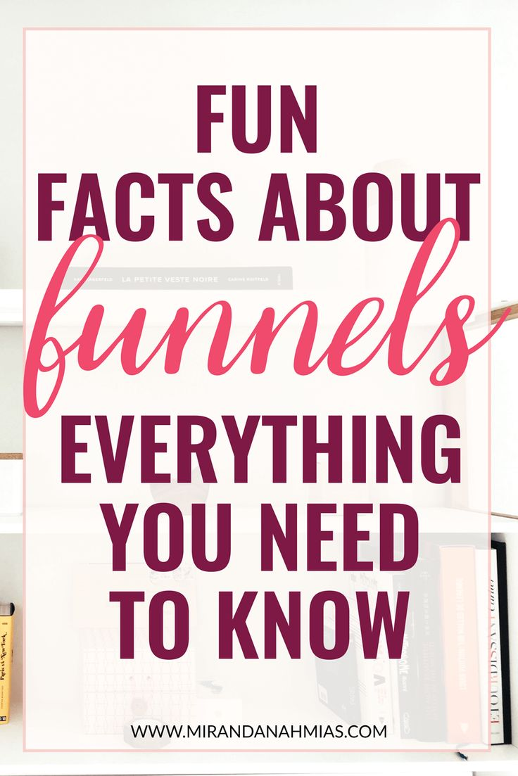 """Fun Facts About #Funnels: Everything You Need to Know. We've all heard """"the gold is in your list."""" The key to list-building? #Sales Funnels. These sales funnel facts will help you create a thriving list. // Miranda Nahmias"""