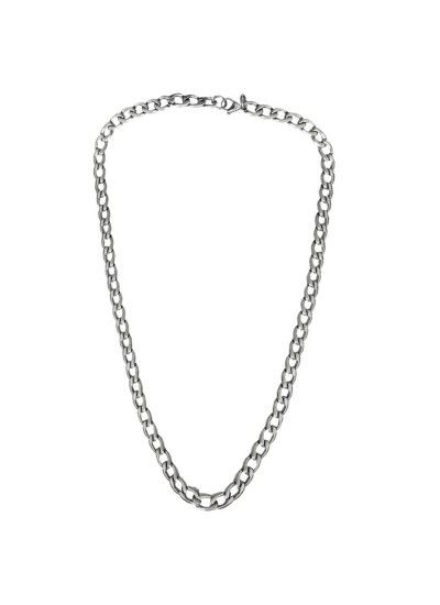 Classic Silver Curb Link Design Alloy Chain For Men Rs. 194/- gift for him,gifts for him india,gift ideas for men birthday,,best gifts for boyfriends,gift ideas for men who have everything,romantic gifts for men, best gifts for husband,mens fashion ,mens style , classy gift,mens gift ideas for birthday gifts for men ideas,www.menjewell.com