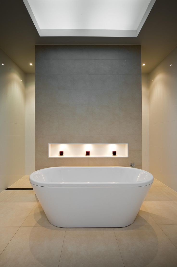Free Standing Bath Feature Wall Niche Bathroom