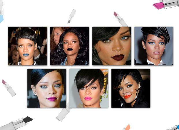 See Rihanna's favorite lip colors at http://amayzine.com/en/2015/7-x-rihannas-colored-lips/