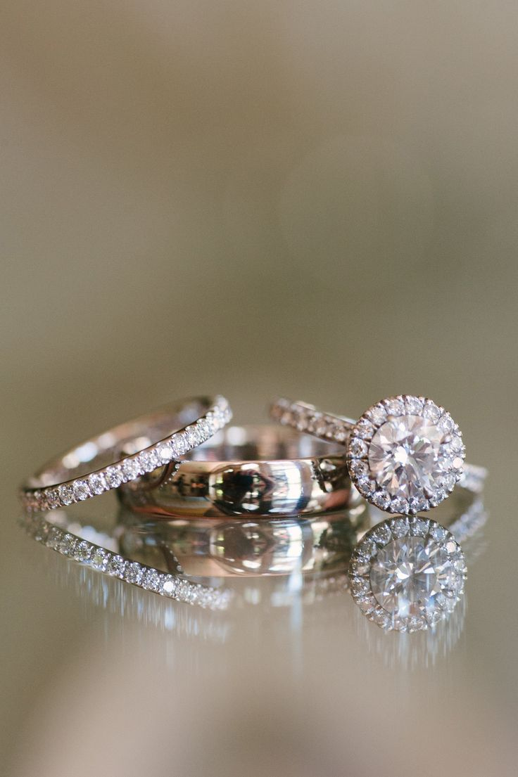 Engagement Ring & Eternity Band. Photography: Pictilio.com -  See the wedding here: http://www.StyleMePretty.com/2014/05/16/classic-wedding-among-the-trees-at-nestldown/