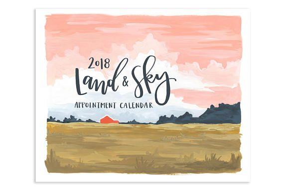 2018 Land & Sky Appointment Calendar // 1canoe2 // Hand