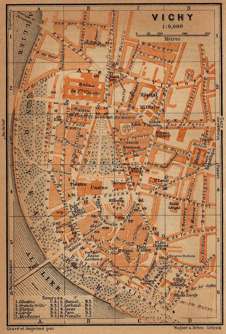 Maps of Vichy Map France 1914 27
