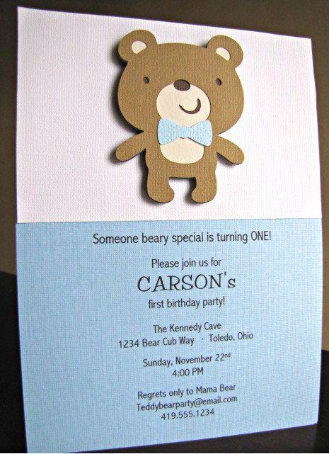 Teddy Bear Party Invitations Teddy Bear Birthday Invitation