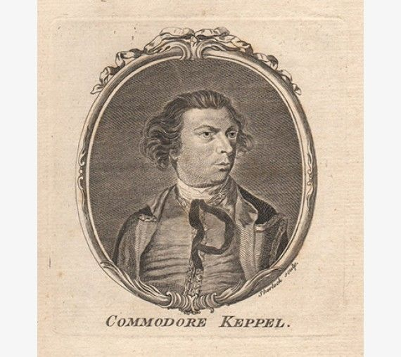 Admiral Keppel portrait engraving print