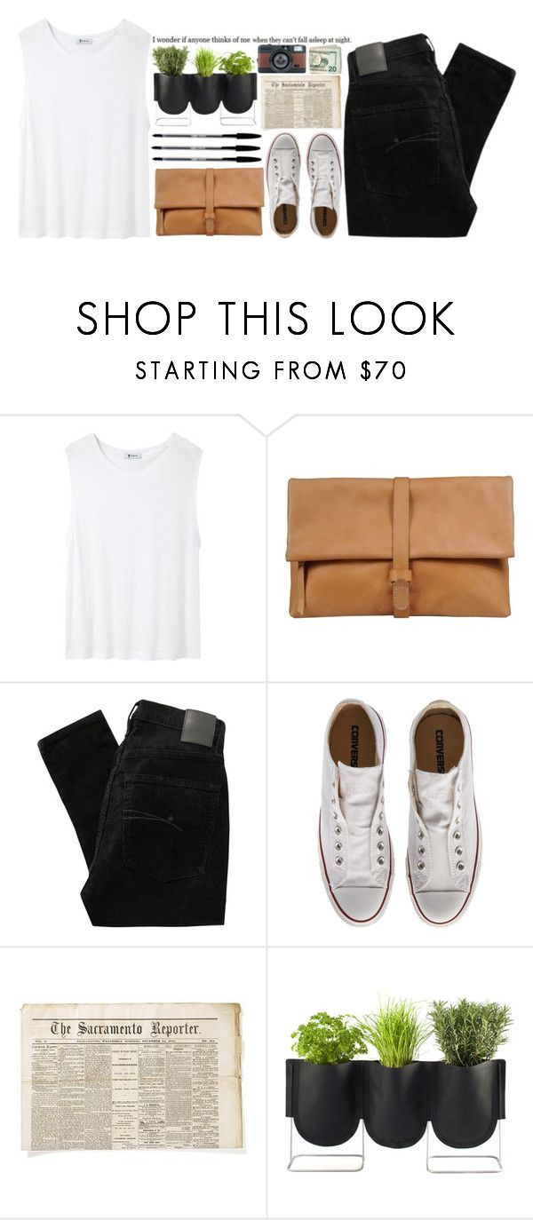 """""""What a long, long year"""" by smoothpeanutbutter ❤ liked on Polyvore featuring T By Alexander Wang, MM6 Maison Margiela, Nobody Denim, Converse and Authentics"""