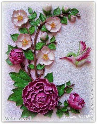 Картина панно рисунок 8 марта День рождения Лепка Картина Райский сад из соленого теста Тесто соленое фото 1