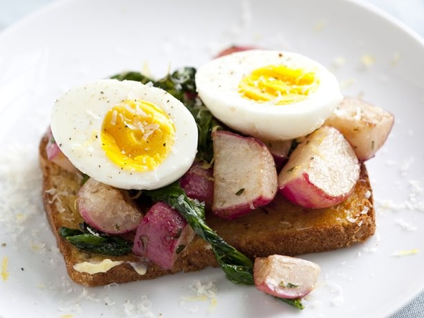 Butter-Braised Radish Open-Face Sandwiches | Recipe
