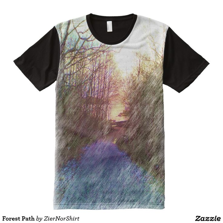 Forest Path All-Over Print T-shirt