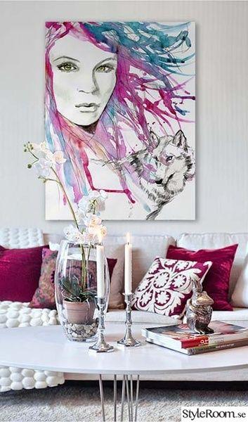 tavlor,akvarell tavla på canvas,canvastavlor,tavla i vardagsrum,vardagsrum