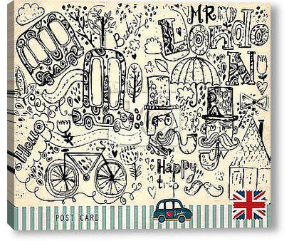 Постер Иллюстрации символов Лондона
