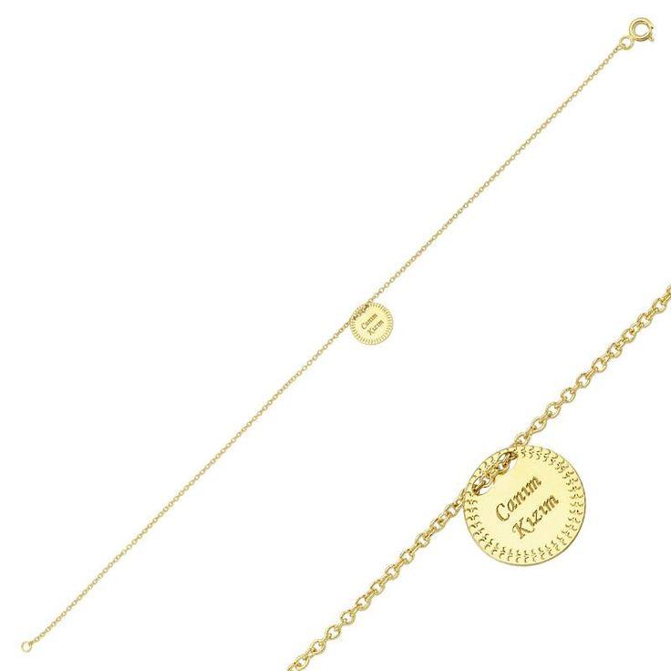 """Altın """"Canım Kızım"""" Bileklik #altınbaşlife #bileklik #altın #takı #tasarım #hediye"""