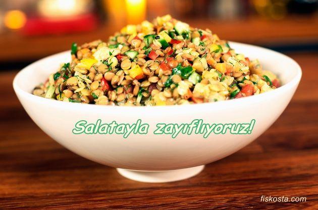 Zayıflatan Salata Yapımı Ayça Kaya'dan