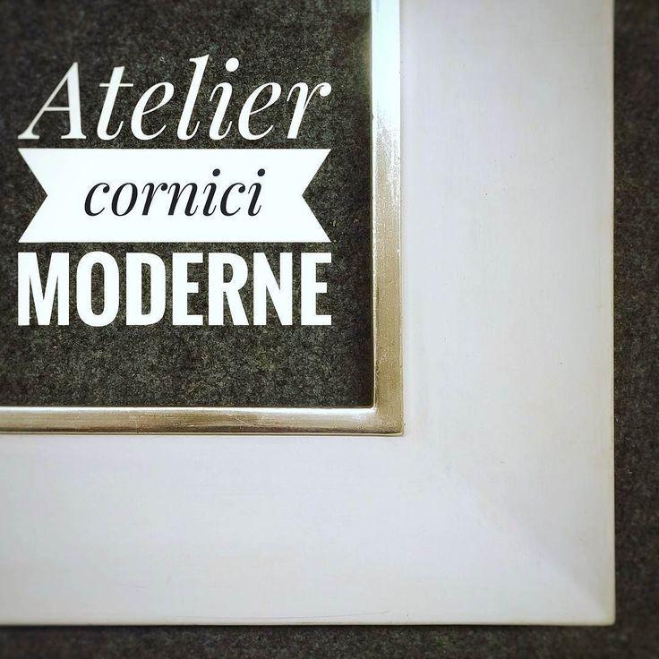 #cornici #corniciaio #pictureframes #guazzo #bianco #argento #modern