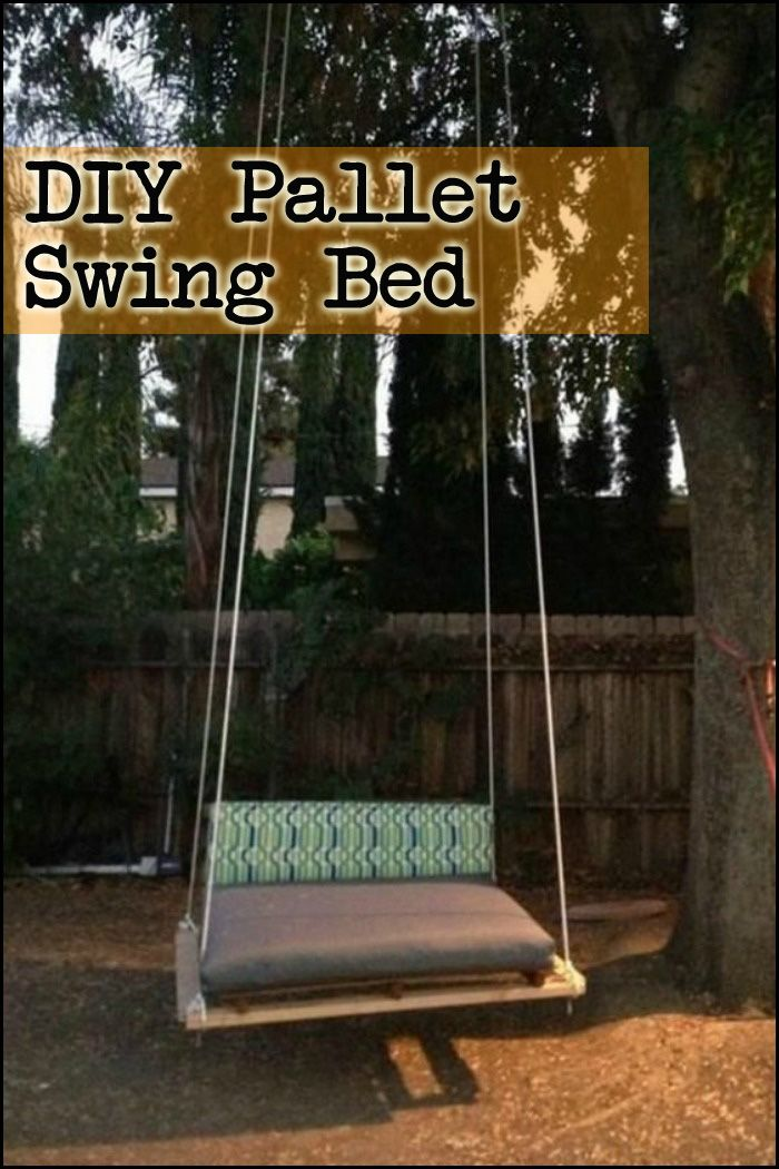 Get some inspiration and learn how to make your own DIY pallet swing bed here...