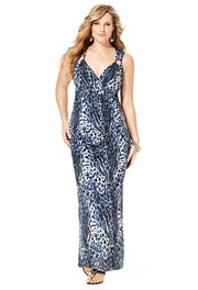Plus Size Animal Print Ring Maxi Dress image
