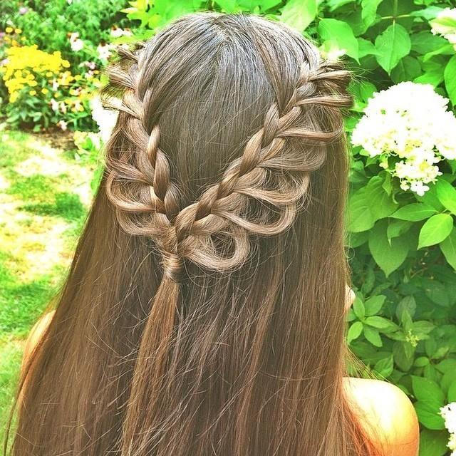 Half loop braid back