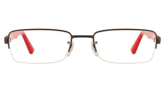 Ray-Ban RX6306 2509 Size:52 Black Red Eyeglasses