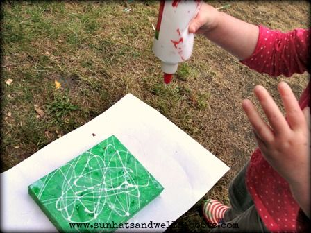 Sun Hats & Wellie Boots: Spider's Web Canvas