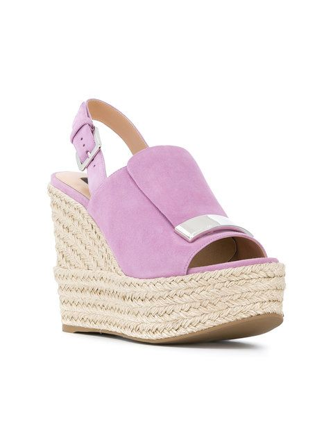 7237a3f47ea Sergio Rossi Wedged Sandals in 2019 | Heels | Sandals, Wedge sandals ...